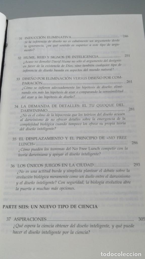 Libros antiguos: DISEÑO INTELIGENTE - WILLIAM A DEMBSKI - RESPUESTAS CUESTIONES MAS ESPINOSAS/ D303 - Foto 12 - 190475986