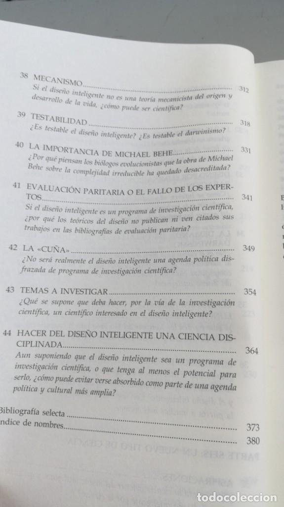 Libros antiguos: DISEÑO INTELIGENTE - WILLIAM A DEMBSKI - RESPUESTAS CUESTIONES MAS ESPINOSAS/ D303 - Foto 13 - 190475986