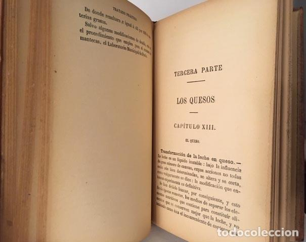Libros antiguos: Tratado práctico de la manipulación de la leche. (1890) Leche, crema, manteca y quesos. - Foto 4 - 190524426