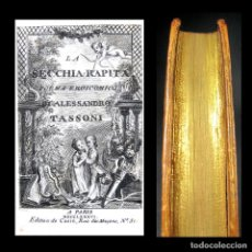 Libros antiguos: AÑO 1786 EL CUBO ROBADO OBRA PROHIBIDA POEMA EROICÓMICO LA SECCHIA RAPITA TASSONI GRABADO CAZIN. Lote 190564718