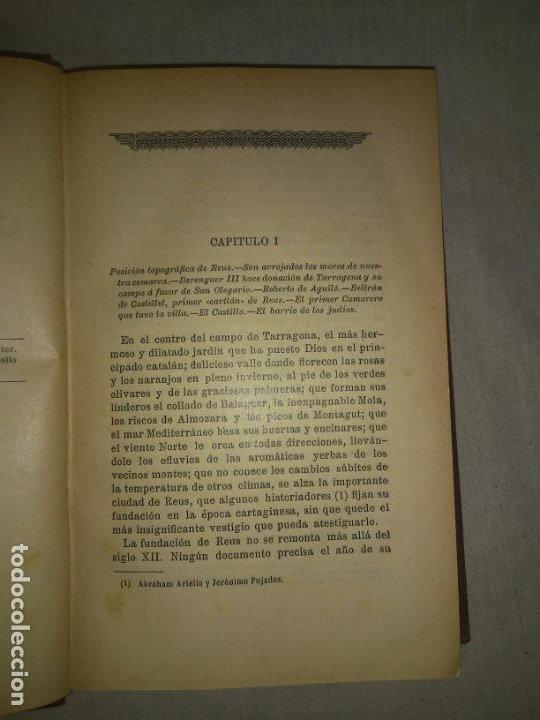 Libros antiguos: HISTORIA DE LA CIUDAD DE REUS - AÑO 1906 - F.GRAS - ILUSTRADO. - Foto 4 - 190706195