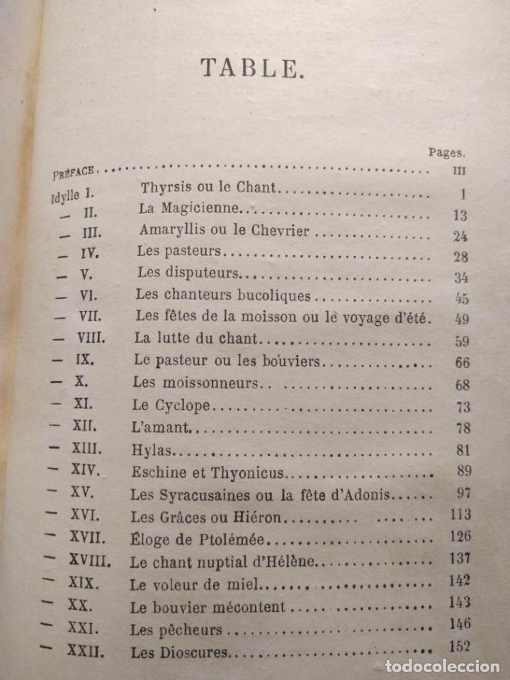 Libros antiguos: Les Idylles de Théocrite. C. E. Rathier. Paris. Libraire Hachette et Cie. 1871. - Foto 4 - 190707761