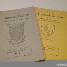 Libros antiguos: ARMORIAL CATALÁN. FOLLETOS 2 Y 6. Lote 190757003