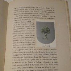 Libros antiguos: EL OLIVO EN LA HERÁLDICA. Lote 190757932