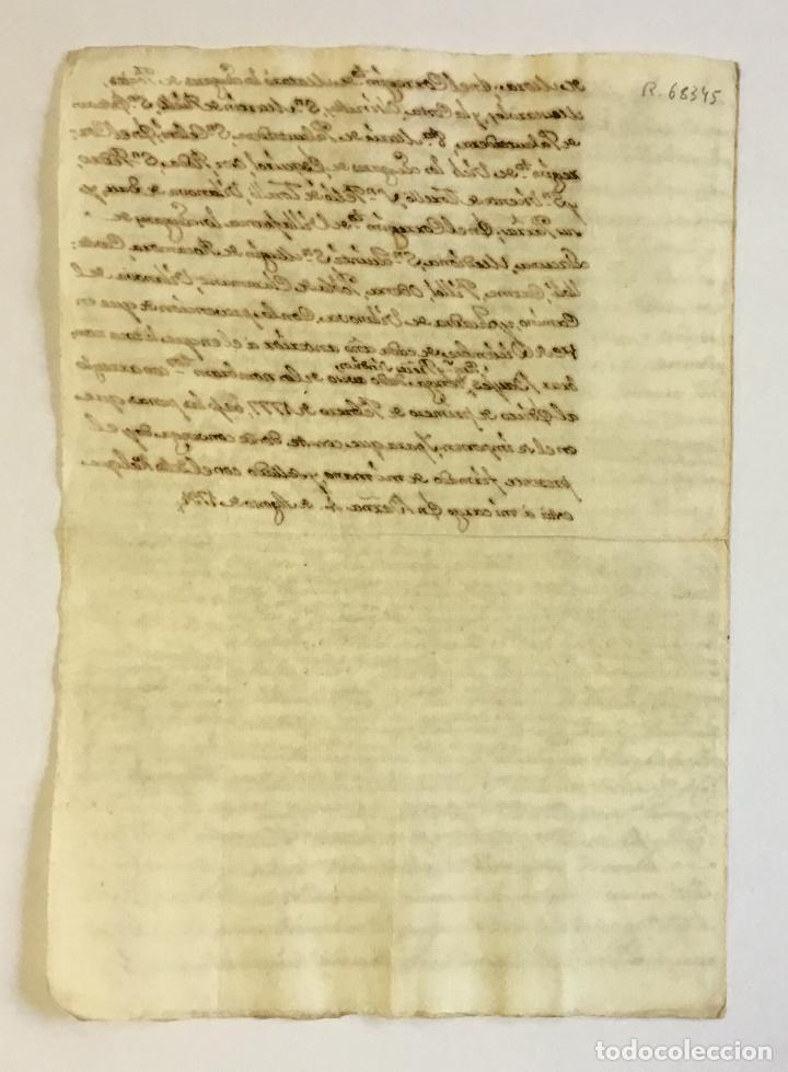 Libros antiguos: [Manuscrito.] [NOTIFICACIÓN DE LA JURISDICCIÓN DEL NUEVO DUQUE DE MEDINACELI Y DE CARDONA.] - Foto 3 - 123152910