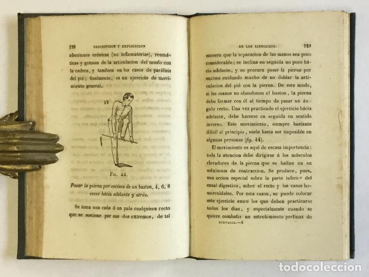 Libros antiguos: MANUAL POPULAR DE GIMNASIA DE SALA MÉDICA É HIGIÉNICA o representación y descripción de los movimien - Foto 2 - 123246719