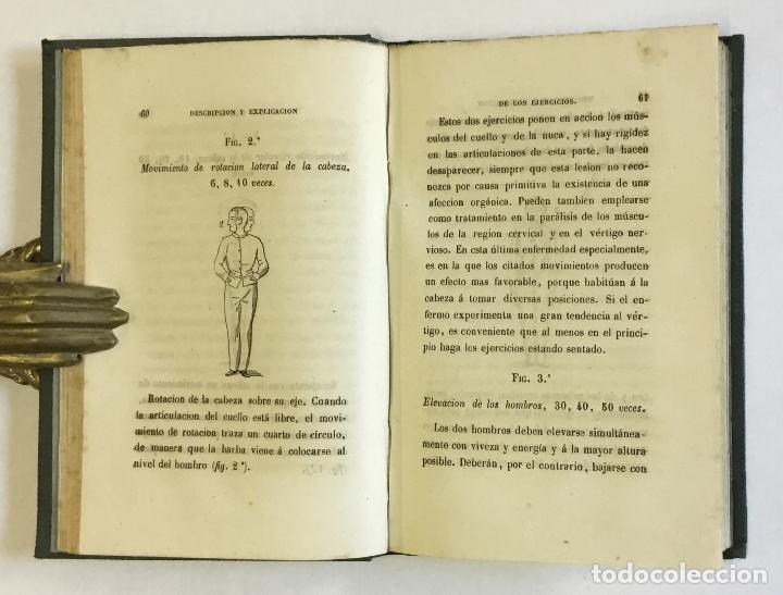 Libros antiguos: MANUAL POPULAR DE GIMNASIA DE SALA MÉDICA É HIGIÉNICA o representación y descripción de los movimien - Foto 3 - 123246719