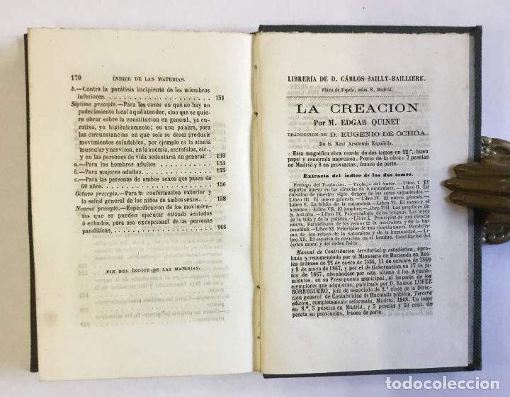 Libros antiguos: MANUAL POPULAR DE GIMNASIA DE SALA MÉDICA É HIGIÉNICA o representación y descripción de los movimien - Foto 5 - 123246719