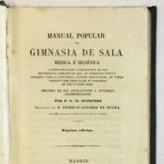 Libros antiguos: MANUAL POPULAR DE GIMNASIA DE SALA MÉDICA É HIGIÉNICA O REPRESENTACIÓN Y DESCRIPCIÓN DE LOS MOVIMIEN. Lote 123246719