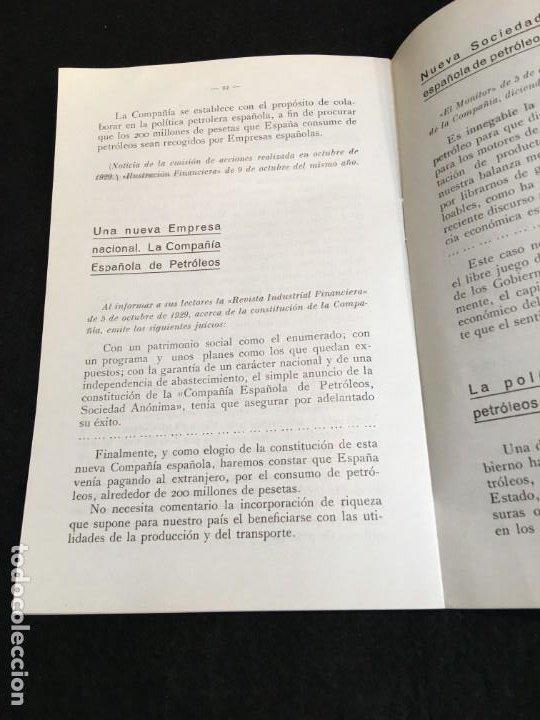 Libros antiguos: El Problema del Petróleo en España. Madrid, 1930. Cia. Española de Petróleos. - Foto 2 - 190822937