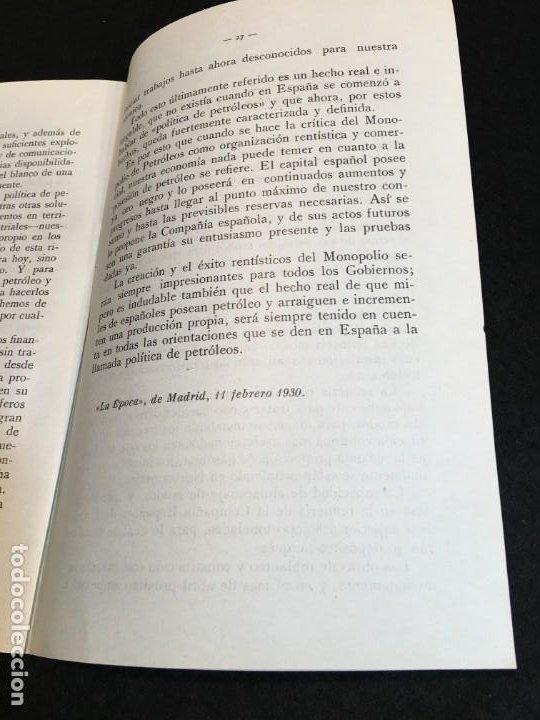 Libros antiguos: El Problema del Petróleo en España. Madrid, 1930. Cia. Española de Petróleos. - Foto 3 - 190822937