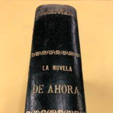 Libros antiguos: LA NOVELA DE AHORA - E. SALGARI Y VVAA - 10 OBRAS ENCUADERNADAS EN MEDIA PIEL, AÑOS 50. Lote 131000016