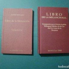 Livres anciens: LIBRO DE LA MELANCHOLIA POR ANDRES VAZQUEZ EGRAF 1996 ED. NUM. 1619 DE 2000 JANSSEN FARMACEUTICA. Lote 190861016
