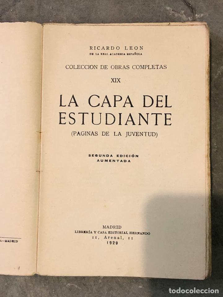 Libros antiguos: La capa del estudiante 1929 - Foto 2 - 190874460