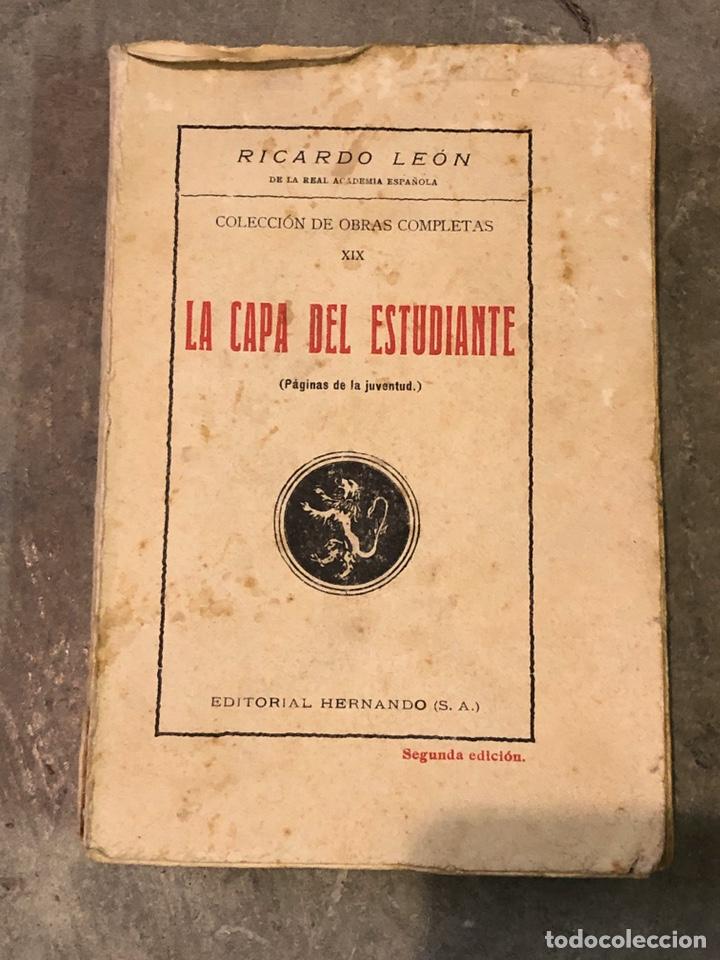 LA CAPA DEL ESTUDIANTE 1929 (Libros Antiguos, Raros y Curiosos - Literatura - Otros)