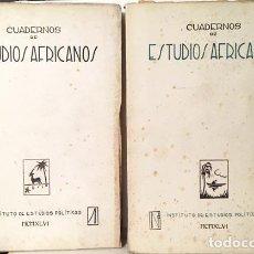 Libri antichi: CUADERNOS DE ESTUDIOS AFRICANOS. PRIMEROS NÚMEROS: 1 Y 2. (GUINEA. MARRUECOS). Lote 190934142