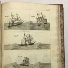 Libros antiguos: ARTE DE APAREJAR Y MANIOBRAS DE LOS BUQUES. ATLAS. 125 LÁMINAS CON GRABADOS. . Lote 190976956