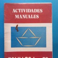 Libros antiguos: ACTIVIDADES MANUALES Nº 59. PALILLOS I. EDITORIAL MIGUEL A SALVATELLA. INCLUYE 8 LÁMINAS. Lote 191037316