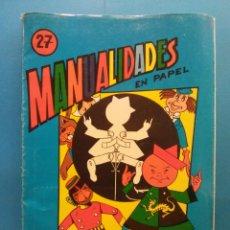 Libros antiguos: MANUALIDADES Nº 27.MUÑECOS CON MOVIMIENTO. EDITORIAL MIGUEL A SALVATELLA. INCLUYE 8 LÁMINAS. Lote 191037408