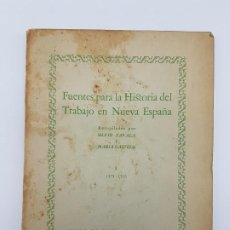 Libros antiguos: FUENTES PARA LA HISTÓRIA DEL TRABAJO EN NUEVA ESPAÑA ( TOMO I ) 1575-1576. Lote 191058231