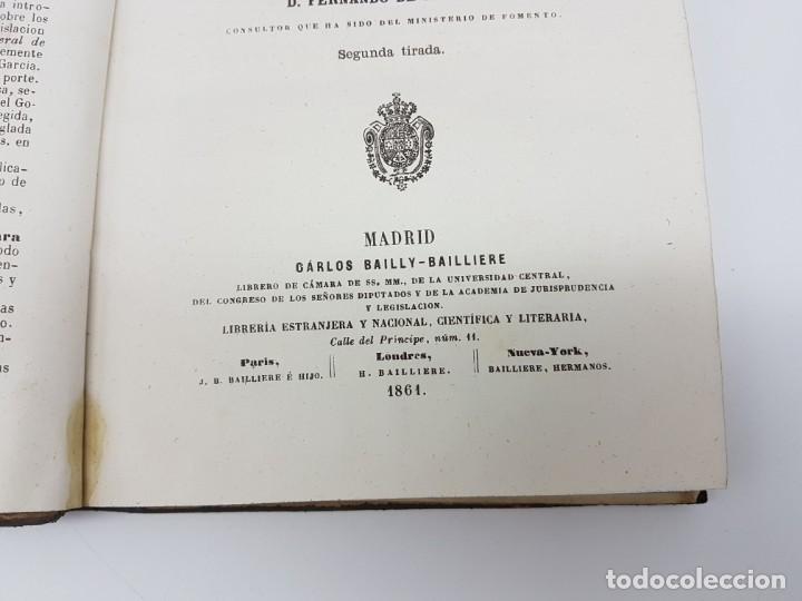 Libros antiguos: MANUAL DE ESPROPIACIÓN FORZOSA PÚBLICA, MADRID 1861 ( DESPLEGABLE ) - Foto 6 - 191058745