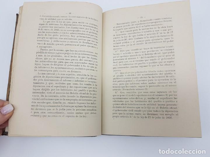 Libros antiguos: MANUAL DE ESPROPIACIÓN FORZOSA PÚBLICA, MADRID 1861 ( DESPLEGABLE ) - Foto 7 - 191058745