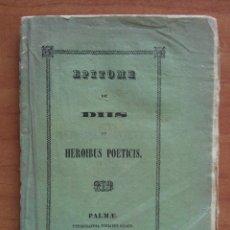 Libros antiguos: 1840 EPITOME DE DIIS ET HEROIBUS POETICIS - PALMAE. Lote 191137098