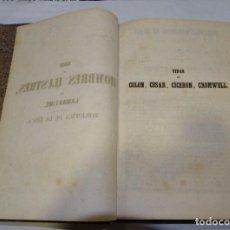 Libros antiguos: VIDAS DE HOMBRES ILUSTRES POR LAMARTINE, COLÓN, CESAR, CICERÓN, CROMWELL. Lote 191170307