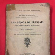 Libros antiguos: LES LEÇONS DE FRANÇAIS - J. LECOULTRE - FOYER SOLIDARISTE 1911. Lote 191200650
