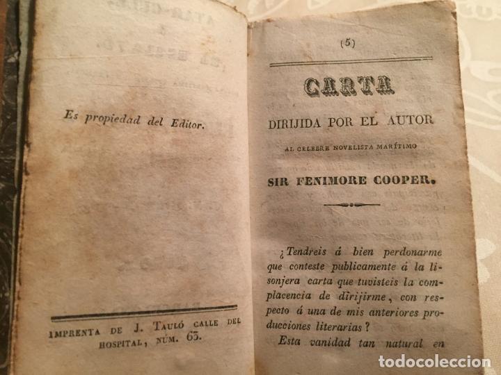 Libros antiguos: Antiguo libro Atar Gull el Esclavo por Eugenio Sue tomo I Barcelona mediados siglo XIX - Foto 8 - 191224756