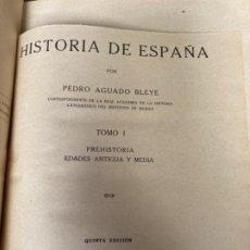 Libros antiguos: ANTIGUO LIBRO HISTORIA DE ESPAÑA PEDRO AGUADO BLEYE TOMO I . Lote 191347000