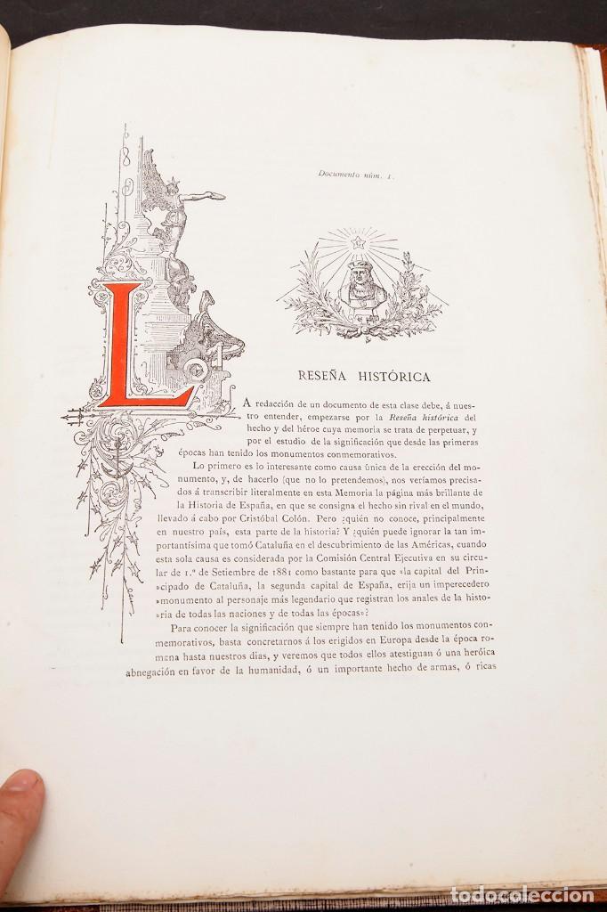 Libros antiguos: GAIETA BUIGAS I MONRABÁ : MONUMENTO A CRISTOBAL COLÓN - PRIMERA EDICIÓN - 1882 - Foto 10 - 191398056