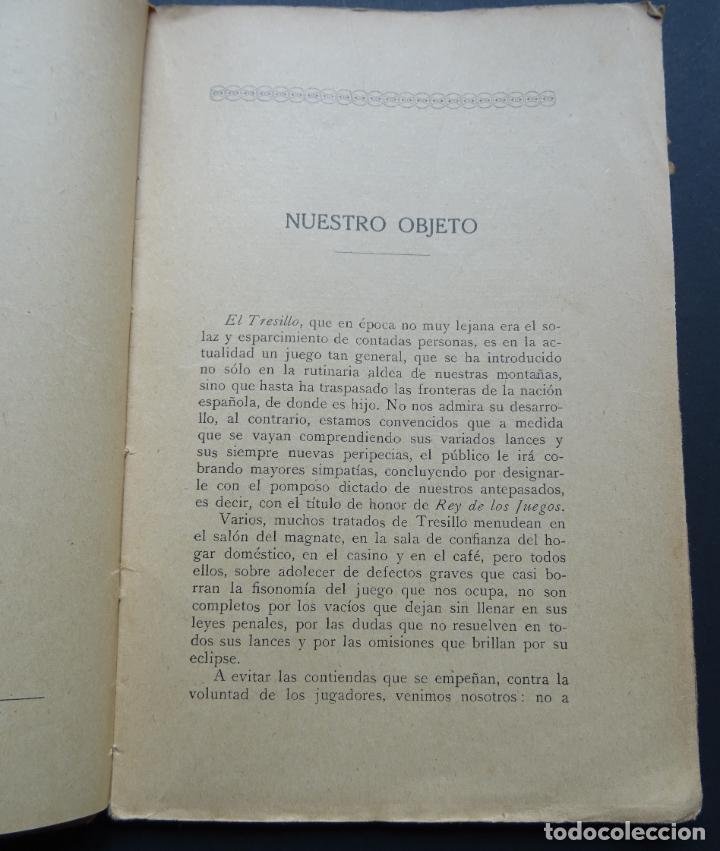 Libros antiguos: El Tresillo, Tratado y Reglas de este Juego libro del año 1923 - Foto 2 - 191398486