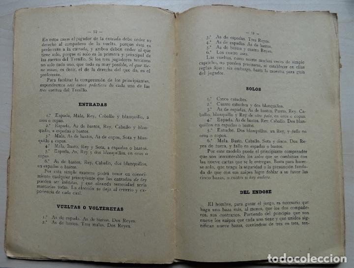 Libros antiguos: El Tresillo, Tratado y Reglas de este Juego libro del año 1923 - Foto 3 - 191398486