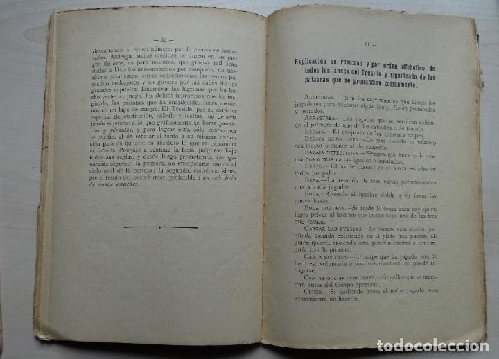Libros antiguos: El Tresillo, Tratado y Reglas de este Juego libro del año 1923 - Foto 4 - 191398486