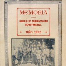 Libros antiguos: MEMORIA CONCEJO DE ADMINISTRACION DEPARTAMENTAL DE SALTO AÑO 1923 URUGUAY RARO ILUSTRADO. Lote 191410077