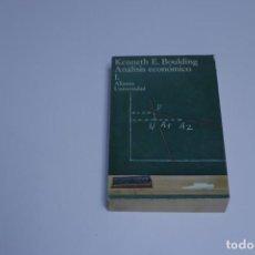 Libros antiguos: KENNETH E. BOULDING - ANÁLISIS ECONÓMICO 1 - ALIANZA UNIVERSIDAD. Lote 191428066