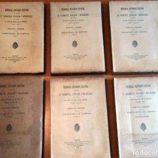 Libros antiguos: MEMORIAL HISTÓRICO ESPAÑOL. COMUNIDADES DE CASTILLA 6 TOMOS, COMPLETO (R.A.Hª 1897-1900) SIN USAR. Lote 191468267