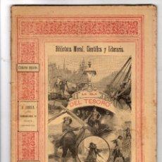 Libros antiguos: LA ISLA DEL TESORO. R.L. STEVENSON. CUADERNO PRIMERO. AÑO 1889. 1ª EDICION. Lote 191577177