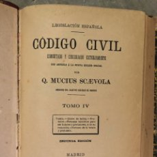 Libros antiguos: LEGISLACIÓN ESPAÑOLA CÓDIGO CIVIL 1891. Lote 191595413