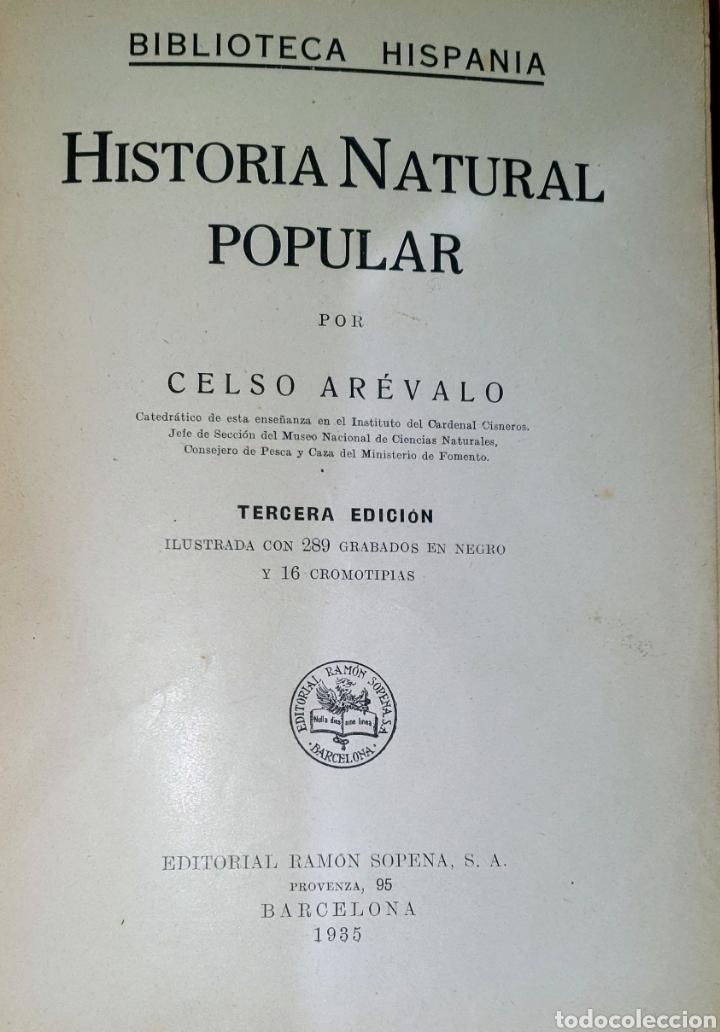 Libros antiguos: Antiguo libro Historia Natural, en la primera hoja está la firma del anterior propietario. - Foto 5 - 191617186