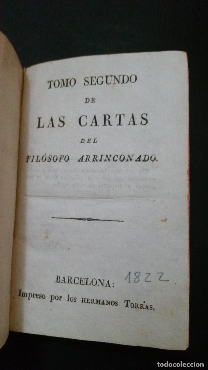 Libros antiguos: 1822 - Tomo Segundo de las Cartas del Filósofo Arrinconado - Foto 2 - 191636532