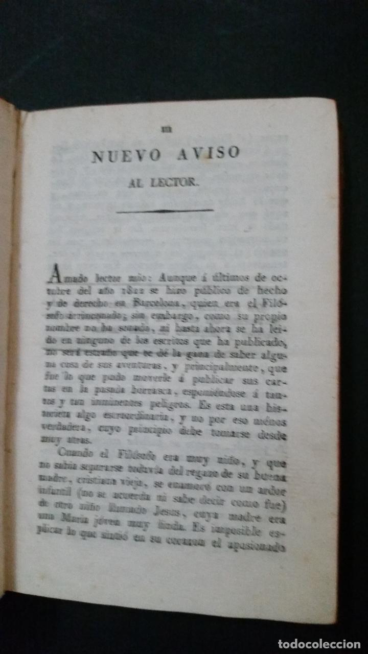 Libros antiguos: 1822 - Tomo Segundo de las Cartas del Filósofo Arrinconado - Foto 3 - 191636532