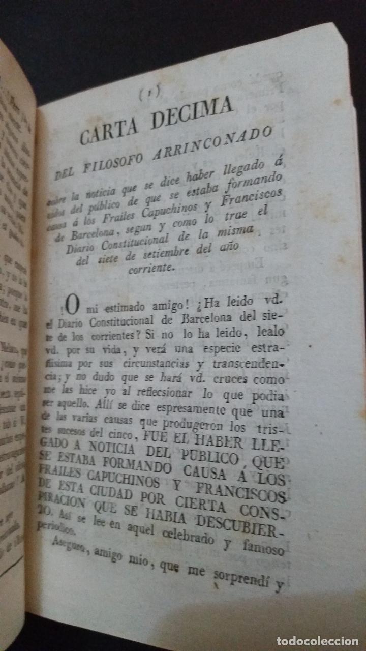 Libros antiguos: 1822 - Tomo Segundo de las Cartas del Filósofo Arrinconado - Foto 5 - 191636532