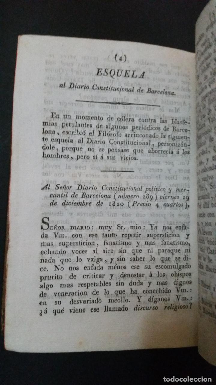 Libros antiguos: 1822 - Tomo Segundo de las Cartas del Filósofo Arrinconado - Foto 7 - 191636532
