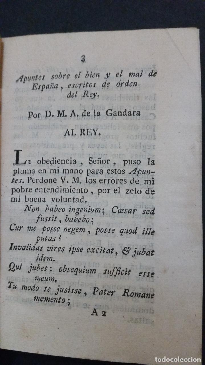 Libros antiguos: 1820 - DE LA GANDARA - Sobre el bien y el mal de España. 2 tomos - ALMACEN DE FRUTOS LITERARIOS - Foto 3 - 191636743