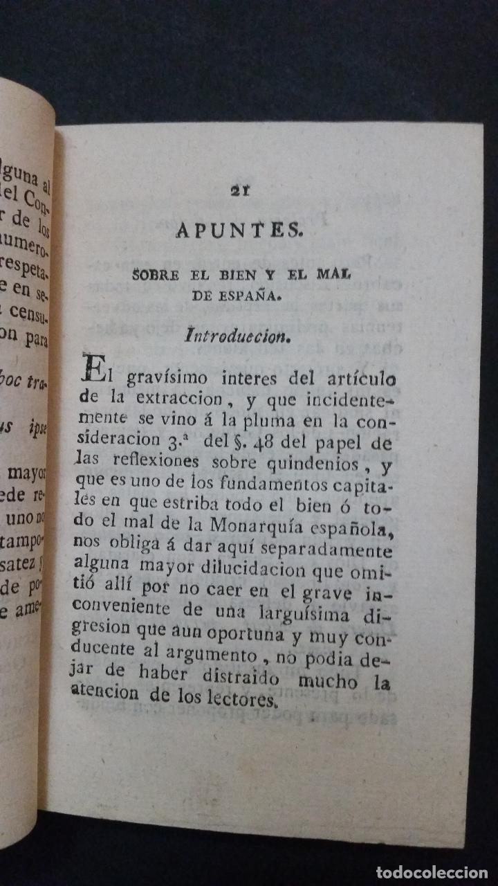 Libros antiguos: 1820 - DE LA GANDARA - Sobre el bien y el mal de España. 2 tomos - ALMACEN DE FRUTOS LITERARIOS - Foto 4 - 191636743