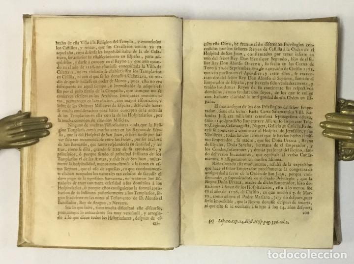 Libros antiguos: DISSERTACIONES HISTORICAS DEL ORDEN, Y CAVALLERIA DE LOS TEMPLARIOS... RODRÍGUEZ CAMPOMANES, Pedro. - Foto 2 - 191712533