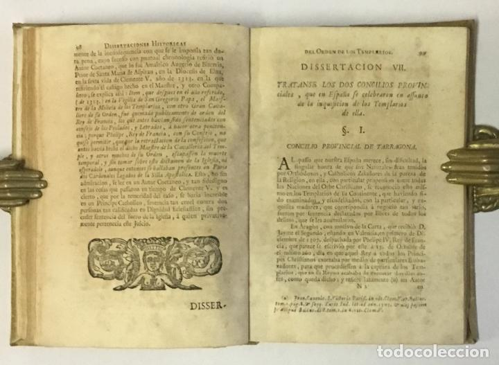 Libros antiguos: DISSERTACIONES HISTORICAS DEL ORDEN, Y CAVALLERIA DE LOS TEMPLARIOS... RODRÍGUEZ CAMPOMANES, Pedro. - Foto 4 - 191712533