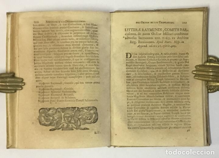 Libros antiguos: DISSERTACIONES HISTORICAS DEL ORDEN, Y CAVALLERIA DE LOS TEMPLARIOS... RODRÍGUEZ CAMPOMANES, Pedro. - Foto 6 - 191712533